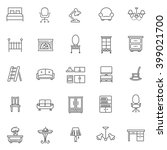 furniture icons set | Shutterstock .eps vector #399021700