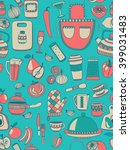 cooking doodle style elements | Shutterstock .eps vector #399031483
