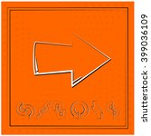 arrow vector drawing set | Shutterstock .eps vector #399036109