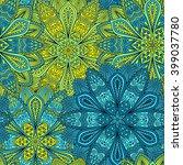 Stock vector vector boho chic flower seamless pattern elegant floral background for wallpaper gift paper 399037780