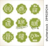 collections of olive oil labels  | Shutterstock .eps vector #399039244