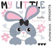 Cute And Pretty Bunny Vector...