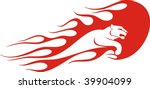 flaming panther vector... | Shutterstock .eps vector #39904099