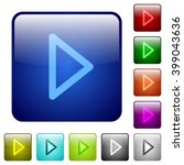 set of color media play glass...