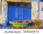 old boat at the picturesque... | Shutterstock . vector #399045970