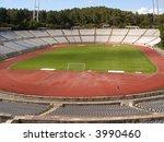 empty soccer stadium   view...   Shutterstock . vector #3990460