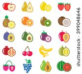 set of fruits flat vector...   Shutterstock .eps vector #399048646
