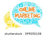 online marketing concept with... | Shutterstock .eps vector #399050158