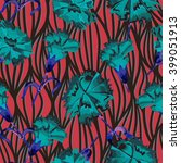 vector seamless abstract... | Shutterstock .eps vector #399051913