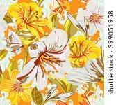 vector seamless flower pattern. ... | Shutterstock .eps vector #399051958