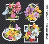 a vector collection of flower... | Shutterstock .eps vector #399052138