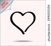 heart sign icon  vector... | Shutterstock .eps vector #399055354