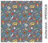 doodle random objects vector...   Shutterstock .eps vector #399055618