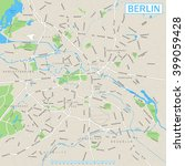 berlin map and navigation icons ... | Shutterstock .eps vector #399059428