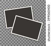 horizontal photo frame with... | Shutterstock .eps vector #399060400