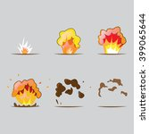 set of explosion effect in... | Shutterstock .eps vector #399065644