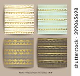set of creative patterns with... | Shutterstock .eps vector #399065698