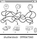 black and white cartoon...   Shutterstock .eps vector #399067360