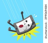 cartoon falling smartphone... | Shutterstock .eps vector #399069484