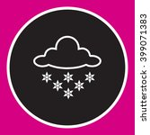 cloud and snow icon  vector...