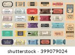 30 retro tickets set | Shutterstock .eps vector #399079024