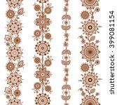 henna ornamental seamless... | Shutterstock .eps vector #399081154