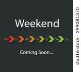 weekend coming soon   vector... | Shutterstock .eps vector #399081370