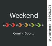 weekend coming soon   vector...   Shutterstock .eps vector #399081376