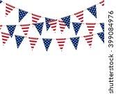 America Triangle Flag Garland...