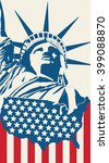 statue of liberty on the... | Shutterstock .eps vector #399088870