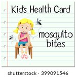 health card with mosquito bites ... | Shutterstock .eps vector #399091546