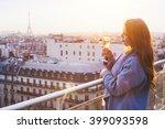 Woman Enjoying Panoramic View...