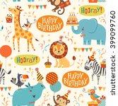 Seamless Birthday Pattern With...