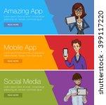 flat design concept for website ... | Shutterstock .eps vector #399117220