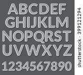 vector paper graphic alphabet... | Shutterstock .eps vector #399121294