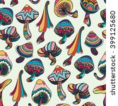 seamless pattern with colorful... | Shutterstock .eps vector #399125680