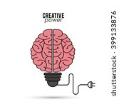 creative mind and idea icon... | Shutterstock .eps vector #399133876