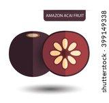 flacourtia  amazon acai fruit... | Shutterstock .eps vector #399149338