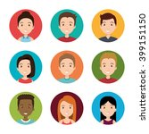 avatars people design  | Shutterstock .eps vector #399151150