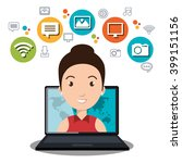 social network design    Shutterstock .eps vector #399151156
