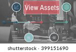 view assets savings investment... | Shutterstock . vector #399151690