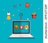 shopping online design  | Shutterstock .eps vector #399157189