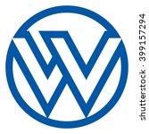 letter w and v logo vector. | Shutterstock .eps vector #399157294