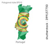 portugal map in geometric... | Shutterstock .eps vector #399157750