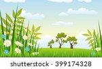 illustration of a landscape... | Shutterstock .eps vector #399174328