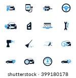 car shop icon set for web sites ... | Shutterstock .eps vector #399180178