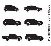 car silhouettes icon set.... | Shutterstock .eps vector #399180298
