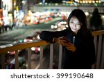 Woman Use Of Smart Phone At...