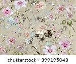 floral hand made design | Shutterstock . vector #399195043
