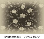 floral hand made design | Shutterstock . vector #399195070